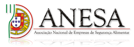 Membro da ANESA - Associação Nacional de Empresas de Segurança Alimentar